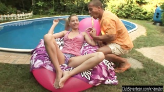 teenage  Marilyn blow and drill man meat at pool Thumb