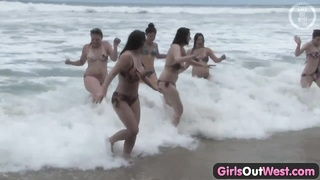 chicks Out West - foul lesbian orgy at the beach Thumb