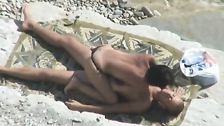 Voyeur Tapes lovers ravaging On Beach Thumb