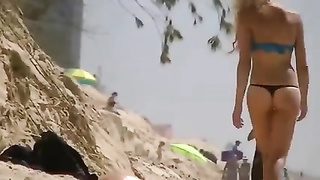 thong and topless on the beach Thumb