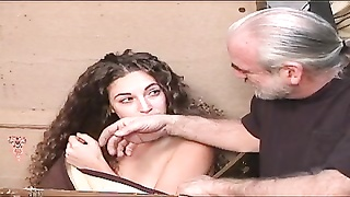 lovely brunette loves being restrained by cougar master for cootchie torturing Thumb