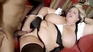 pudgy mom with fleshy boobies & black guy with huge man sausage Thumb
