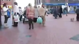 Nude in public, dancing in the street Thumb