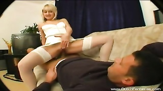 Dutch yellow-haired babe Shagging Thumb