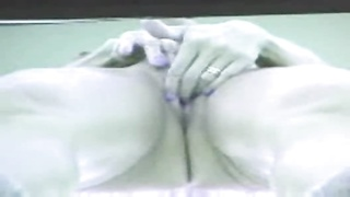 dame caught jerking in a tanning bed by a peeper Thumb