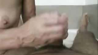 grandmother Heike, Tugjob in her erst domestic Thumb