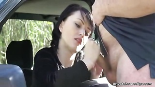 adorable  French woman Makes Fatty explode With cum Thumb