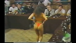 My wife dancing at my company's swimsuit  contest Thumb