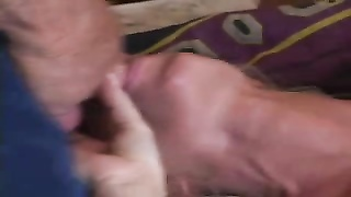 English insensible blondy wife ganged on drill My wife Thumb