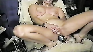 naughty wifey  self drill both crevices . Homemade movie Thumb