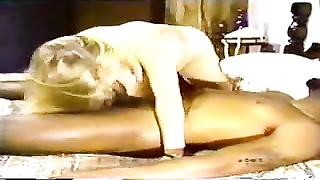 blondy white wifey  with sunless lover - Homemade Interracial Cuckold Vintage Thumb