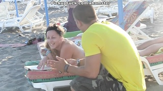 A youthful Spanish dame tear up in nature Thumb