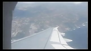 Spanish couple loopy hj  in a plane (amazing) Thumb