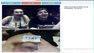 three polish grls laugh at small monster on omegle Thumb