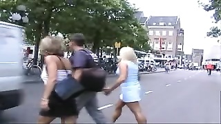 two grind  ladies penetrating outdoors in Maastricht, Netherlands Thumb