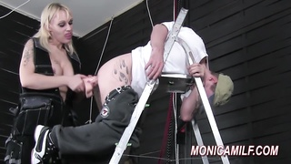 steaming pegging and bootie smashing by Norwegian MonicaMilf Thumb