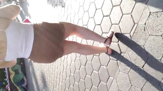 smart large Mexican caboose  in puny skirt Thumb