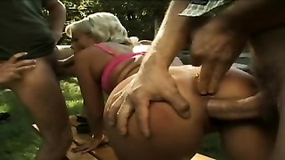 Hungarian brown-eye gaped by french boys  Lecastel Assman Thumb