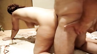 huge-boobed  German Mom drilled rear end  and creampied Thumb