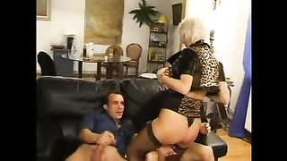 FRENCH primitive 27 ass fucking blondie mom mummy  with 2 younger dudes Thumb