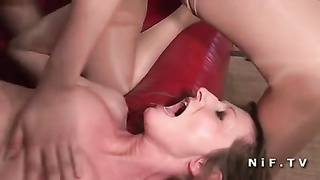 FFM two french bitch hardcore anal invasion sex Thumb
