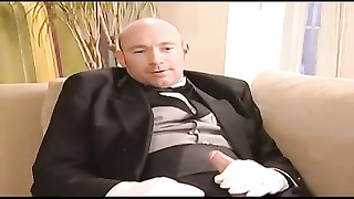 young Liza tiresome, French maid double penetration  bang Thumb