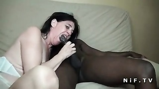 French traditional sodomized by 2 shadowy fuck-sticks Thumb