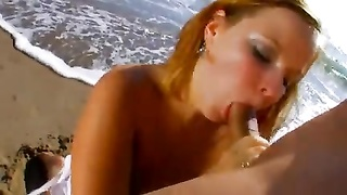French BBW Gets Her caboose banged on the Beach Thumb