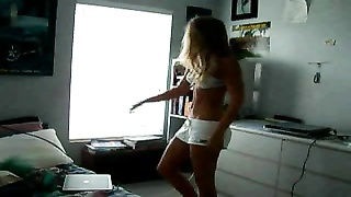 lovely bulgarian lady unwrap  in front of a webcam Thumb