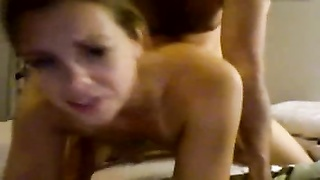 wife takes creampie after plumb from bum, orbs  swing Thumb