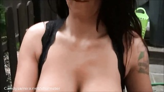 big-titted Samira outdoor joy  with her neigbor Thumb
