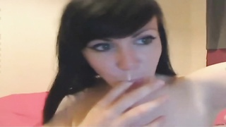 Chloe milking knockers in webcam Thumb