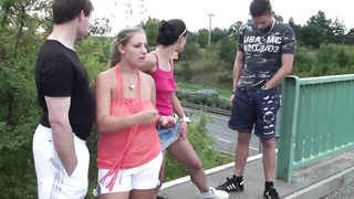 Public GROUP hookup ORGY with big knockers fraction 1 Thumb