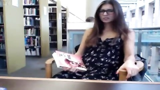 Camgirl in library Thumb