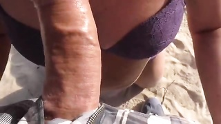 Public beach blowage  cum on huge large mummy  bootie Thumb