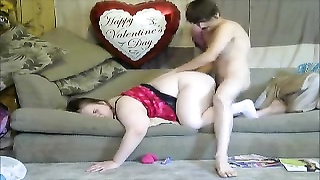 magnificent Mom takes son virginity rear end  style with a creampie to mommy vagina Thumb
