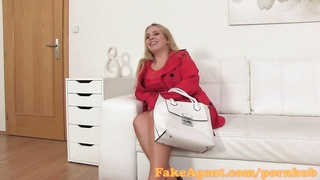 FakeAgent big big-chested yellow-haired give lubricious hooter jack  in Casting interview Thumb