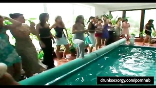 Shameless party honeys  gets plowed at poolside Thumb