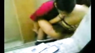 Indonesian Maid plumb With Pakistani stud in Hong Kong Public Toilet Thumb