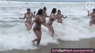 ladies Out West - evil lezzie orgy at the beach Thumb