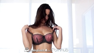 HD CastingCouch-X - large orb  Ashley Adams tries her top porn shoot Thumb
