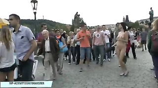loopy babes shows their naked bodies on public streets Thumb