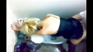 Voyeurs compilation of toilet stall hookup at a club Thumb