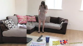 FakeAgentUK multiple orgasms from hairy vulva Latvian babe Thumb