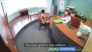 FakeHospital huge-titted ex porn starlet  uses her improbable sexual skills and bod to Thumb