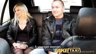 FakeTaxi big hooters blondie nails playmate on taxi backseat Thumb