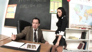 insatiable Schoolgirl nailed By Teacher! Thumb
