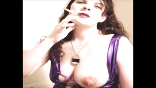 molten milf Smoking and Letting Her huge Milky orbs hotfoot Thumb