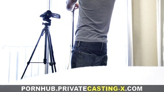 Private Casting-X - Teeny welcomes pecker for cash Thumb