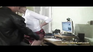 threesome with silly schoolgirl Thumb